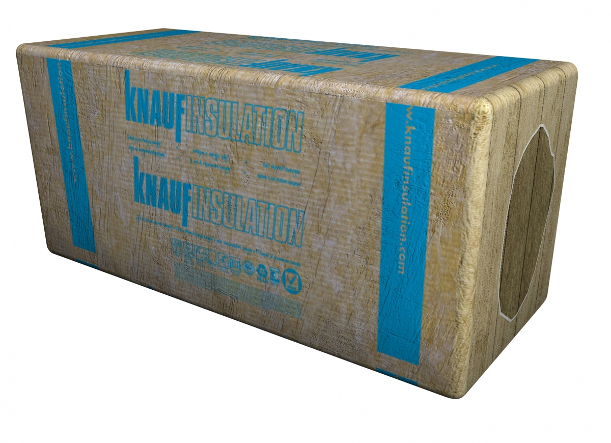 Pack of rock wool slab