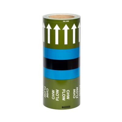 Pipe Identification Banding ID Tape UK-Chilled Water Return